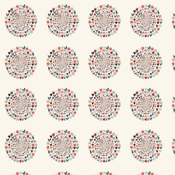 Vinylová Tapeta Veselé Vánoce kruh pozadí - Mezinárodní svátky