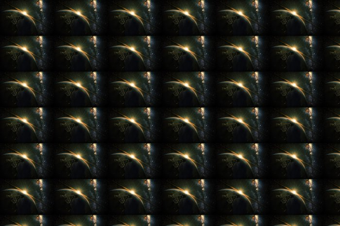 Vinylová Tapeta Unrise pohled na Zemi z vesmíru se galaxie Mléčné dráhy - Meziplanetární prostor