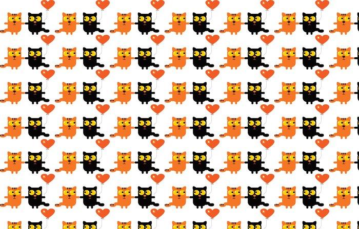 Vinylová Tapeta Kočky v lásce - Imaginární zvířata