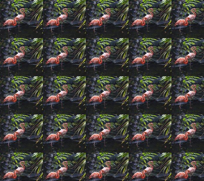 Vinylová Tapeta Husí krokové Flaminga - Ptáci