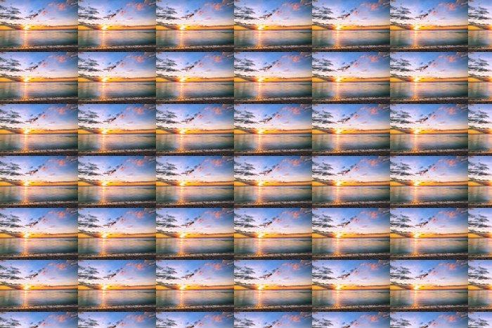 Vinylová Tapeta Západ slunce na pobřeží Reunion - Prázdniny