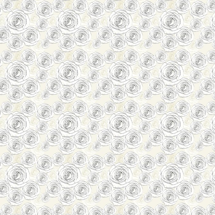 Vinylová Tapeta Jednotný vzor - Květiny