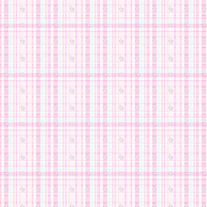 Checker Rose Flower Mint Blue Pink Pattern Heart Love Abstract Vinyl Wallpaper