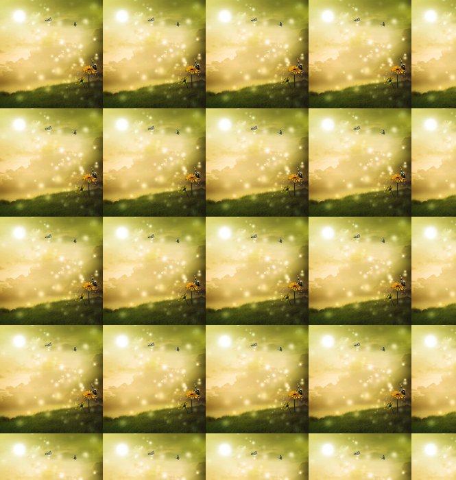 Vinylová Tapeta Žluté gerbery s motýly v fantazie kopce - Jiné pocity
