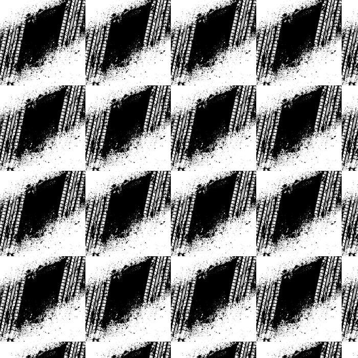 Vinylová Tapeta Bílá stopa pneumatiky na černé inkoust Blots - Na cestě