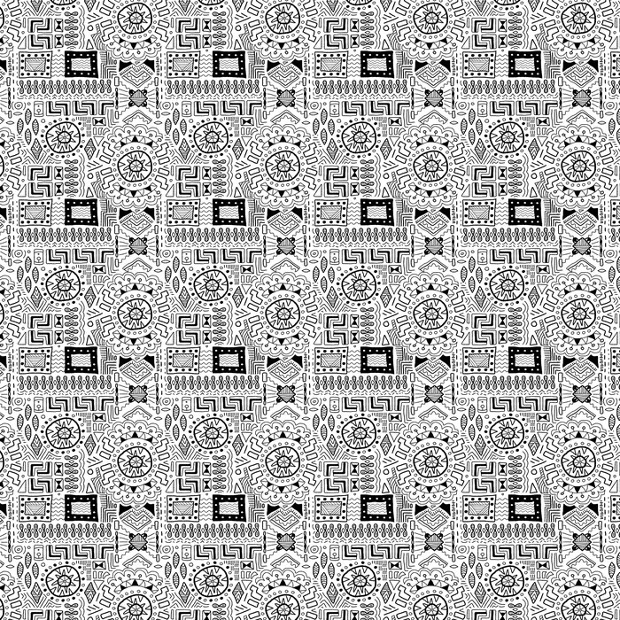 Vinylová Tapeta Tradiční výtvarné pozadí - domorodé vzory - Pozadí