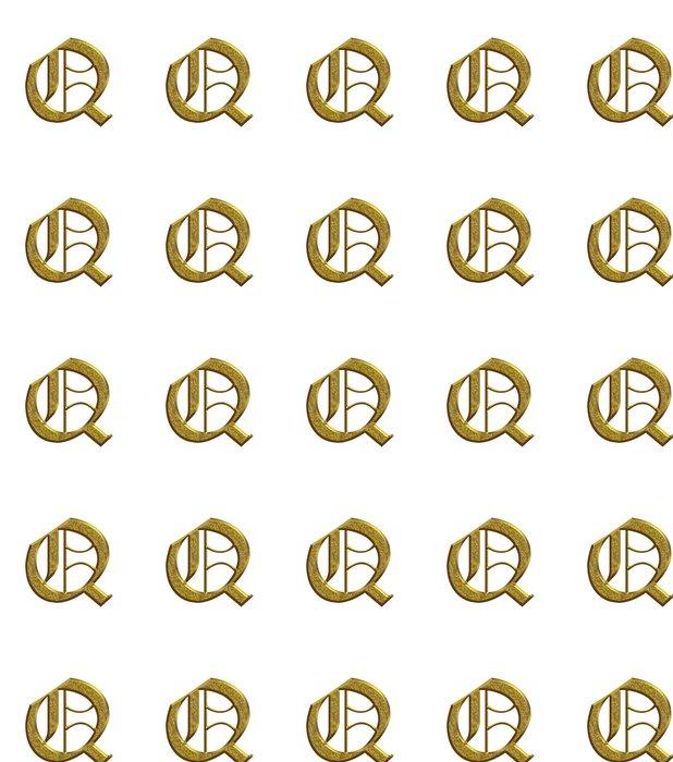 Vinyltapete Q - Alphabet en or - Lettrine - Zeichen und Symbole