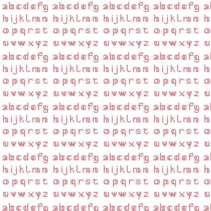 Vinylová Tapeta Cross Stitch Abeceda, malými písmeny - Témata