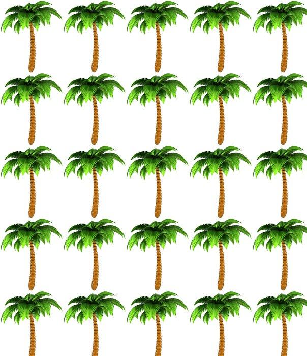 Vinylová Tapeta Palm tree stylizované tropické přírody design element 3d render - Nálepka na stěny