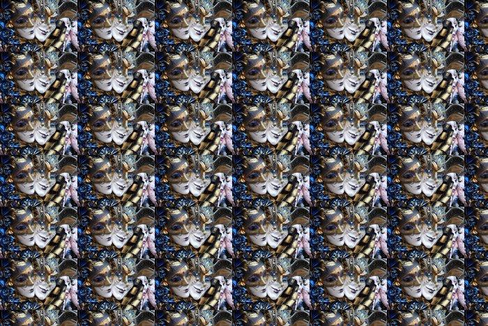 Vinylová Tapeta Řada benátské masky ve zlatě a modré - Mezinárodní svátky