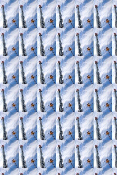 Vinylová Tapeta Dvě byly zahájeny rollelcoasters přes fantastickou oblohu - Prázdniny