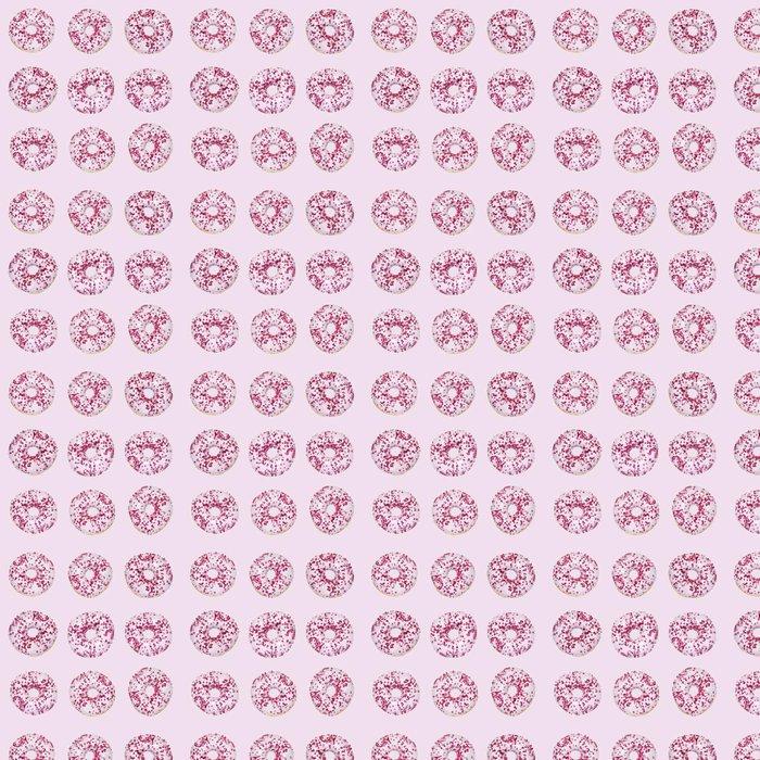 Vinylová Tapeta Růžová kobliha vzor - Jídlo