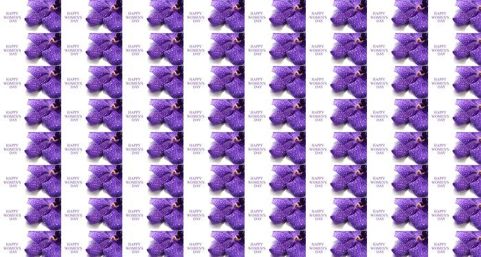 Vinylová Tapeta Purple Orchid Flower izolovaných na bílém - Květiny