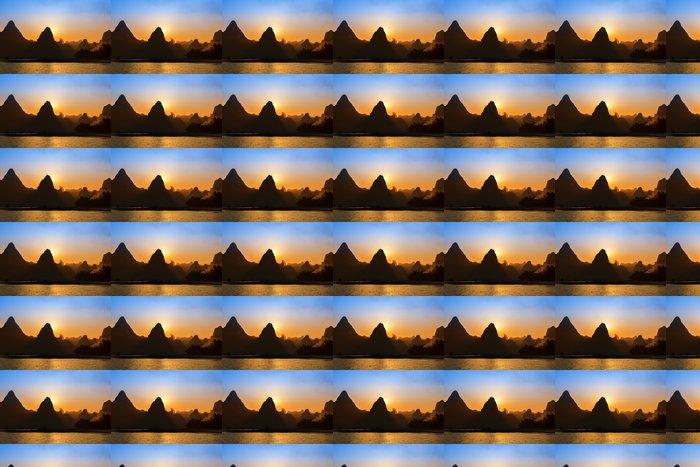 Vinylová Tapeta Sunset landscpae Yangshuo Guilin, Čína - Asie