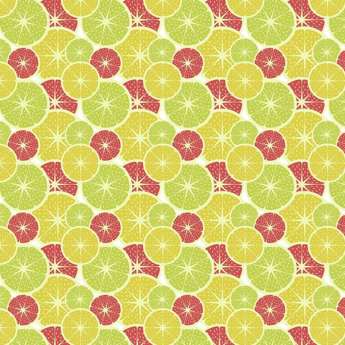 tapete gelbe zitronen und gr ne limonen und rote grapefruit muster vintage farben und stil. Black Bedroom Furniture Sets. Home Design Ideas