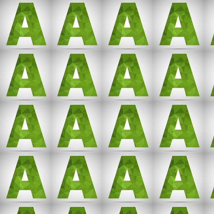 Tapete Mosaic Buchstaben A • Pixers® - Wir leben, um zu verändern