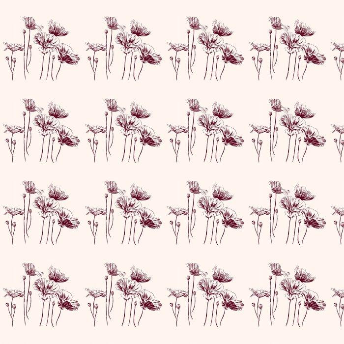 Vinylová Tapeta Mák květiny vektorové ilustrace - Květiny