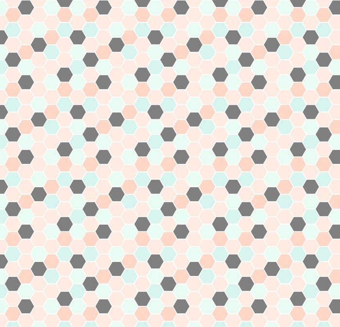 Papier peint à motifs Modèle sans couture d\'hexagone • Pixers ...
