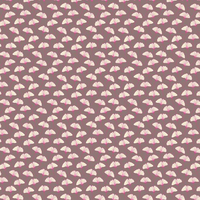 Vinylová Tapeta Krásná bezproblémové ginkgo vzor. vektorové ilustrace - Struktury