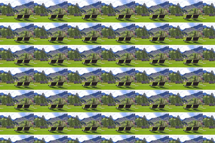 Summer resort in mountains Vinyl Wallpaper - Countryside