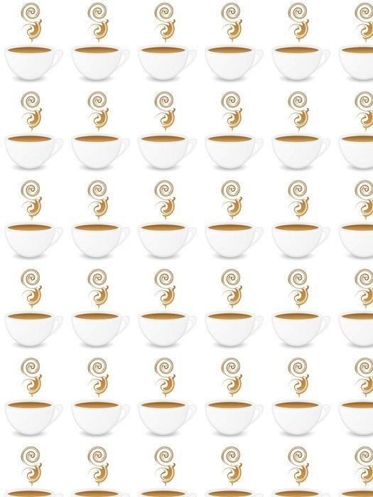 Vinylová Tapeta Šálek kávy - Nálepka na stěny