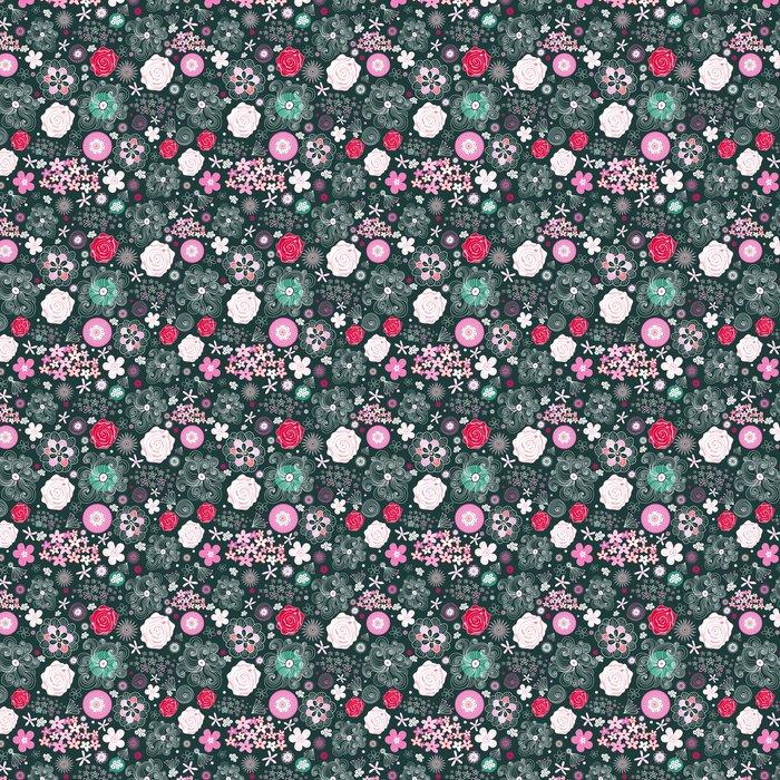 Vinylová Tapeta Květinový vzor - Struktury