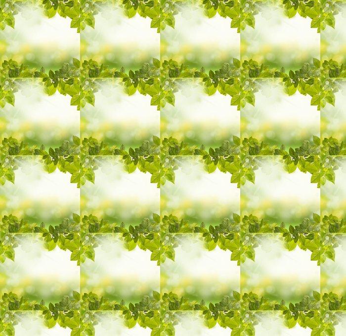 Vinyl Behang Groene bladeren ochtend - Thema's