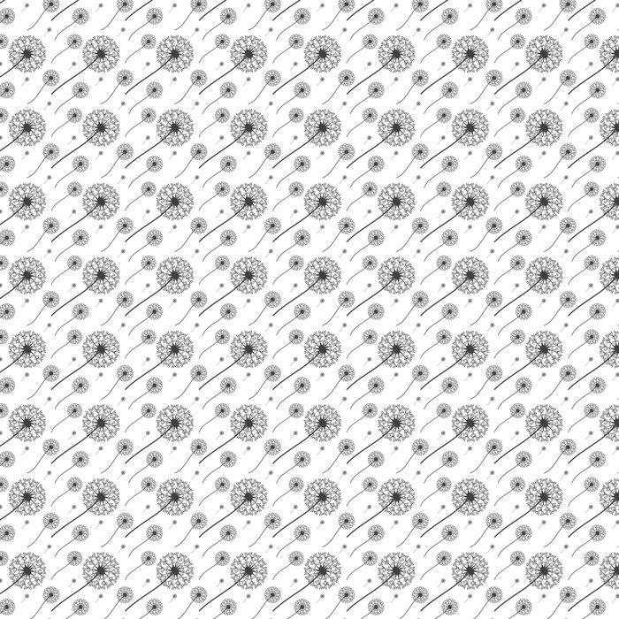 Vinylová Tapeta Květinový vzor pampelišky. Bezproblémové vektorové pozadí - Grafika