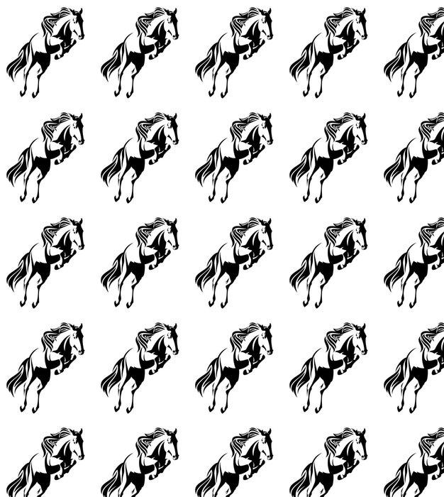 Vinylová Tapeta Skákání jízda na černé a bílé vektorové designu - Zvířata