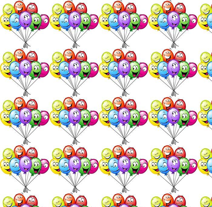 Vinylová Tapeta Skupina vtipné barevné balónky - Slavnosti