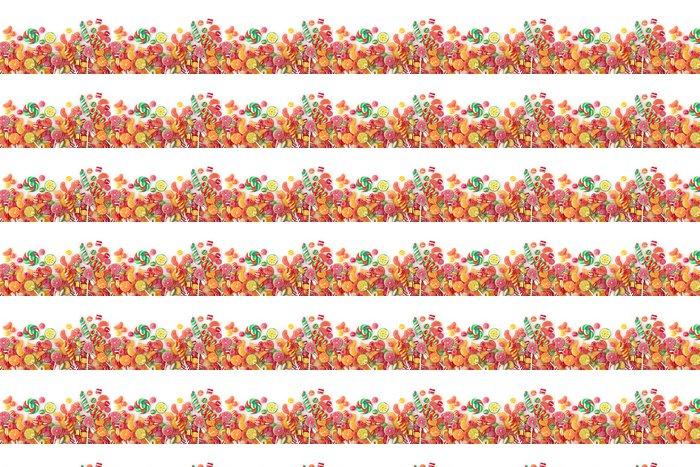 Vinylová Tapeta Smíšené barevné ovoce bonbon zblízka - Témata