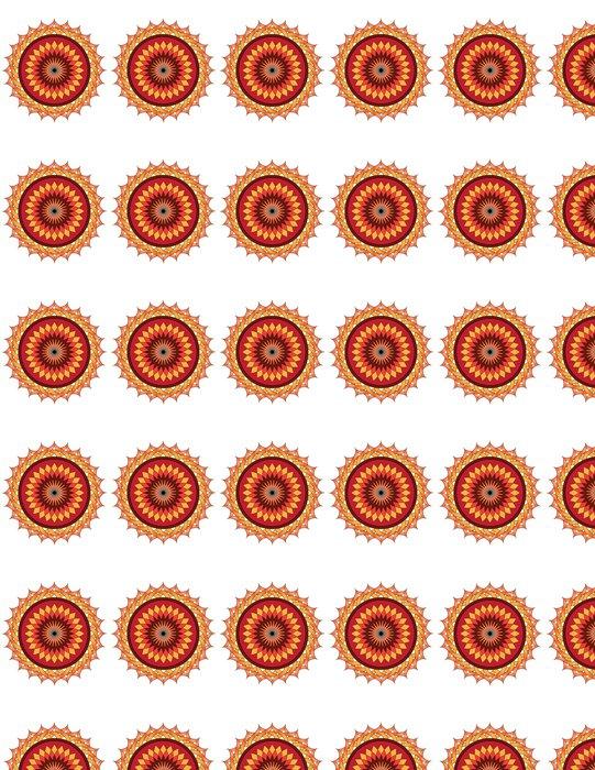 Vinylová Tapeta Lotus mandala - Nálepka na stěny