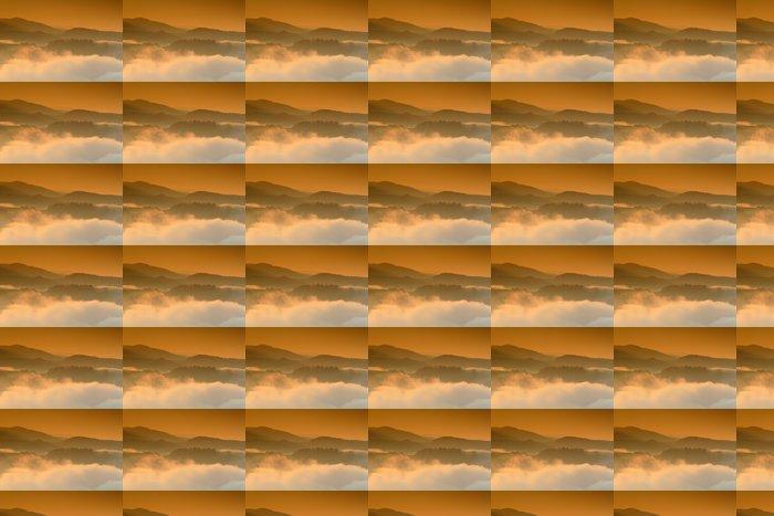 Vinylová Tapeta Západ slunce v horách - Hory