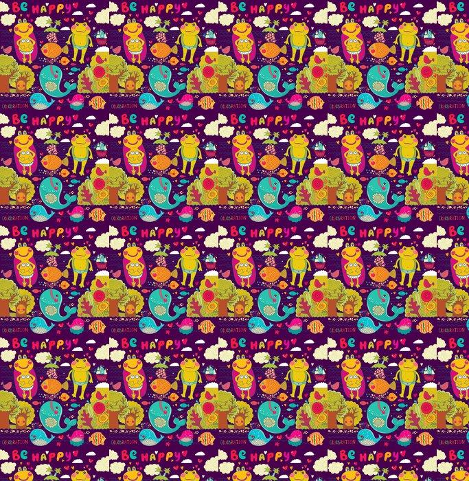 Vinylová Tapeta Vektorové kreslené ilustrace šťastné žáby - Slavnosti