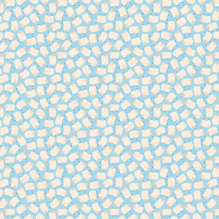 Seamless Sheep Pattern Vinyl Wallpaper