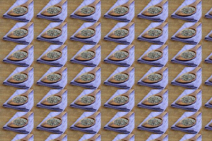 Vinylová Tapeta Makro záběr vonící fialové levandule sušené koření - Jídla