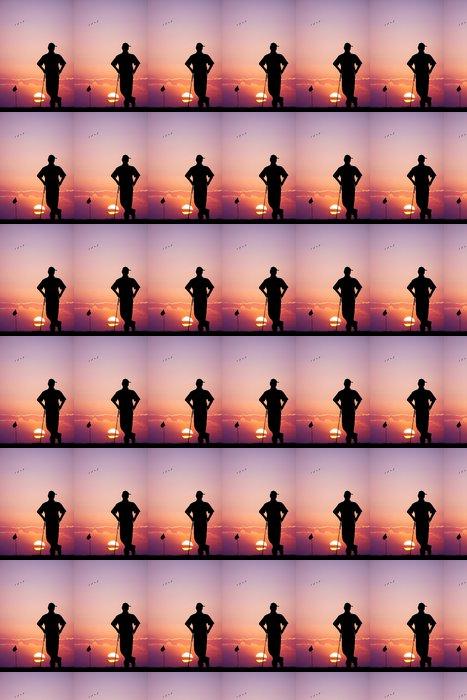 Vinylová Tapeta Muž hraje golf při západu slunce - Golf