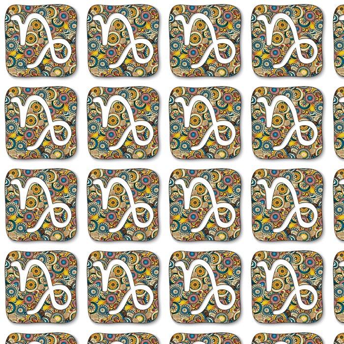 Vinylová Tapeta Znamení - Kozoroh. Doodle ručně kreslených stylu - Značky a symboly