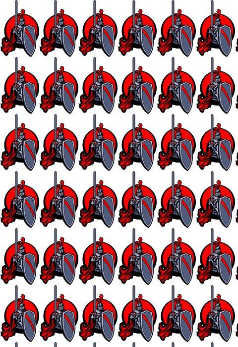 Vinylová Tapeta Středověký rytíř s mečem a štítem Vector Mascot - Rytíři