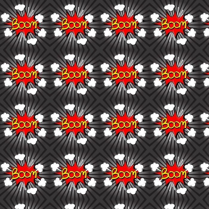 Vinylová Tapeta Boom s radiální rychlosti. comic speech bubble - Filmy a televizní seriál