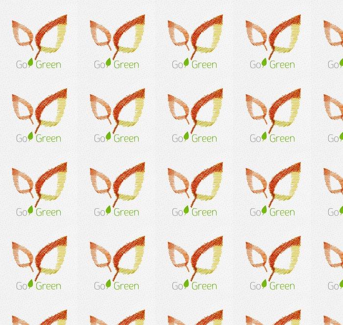 Vinylová Tapeta Zelený list ručně kreslenými koncept - Mír