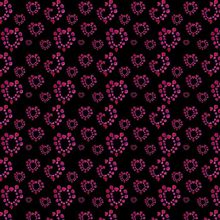 Vinil Duvar Kağıdı Rose Petal Kalpler - Çiçekler