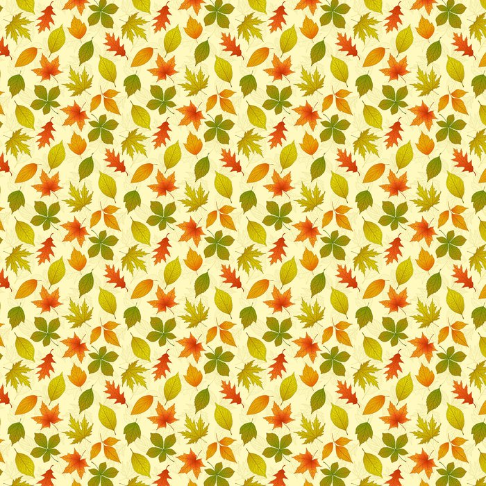 Papier Peint à Motifs Vinyle Automne seamless pattern - Saisons