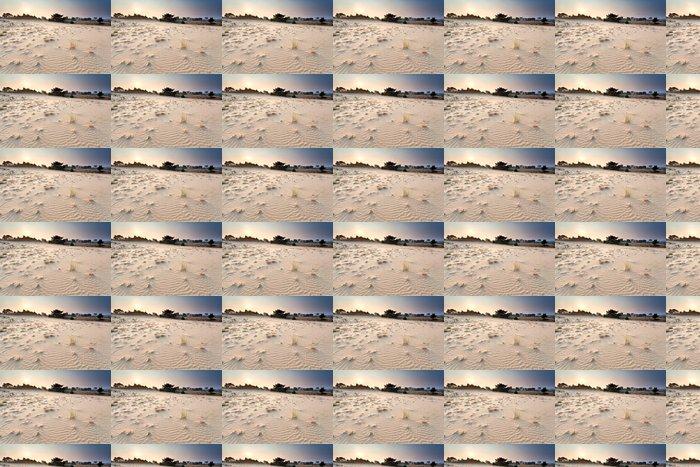 Vinylová Tapeta Západ slunce nad písečné duny - Pouště