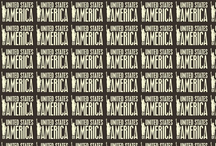 Vinylová Tapeta Nápis Spojených států s Socha svobody - Americká města