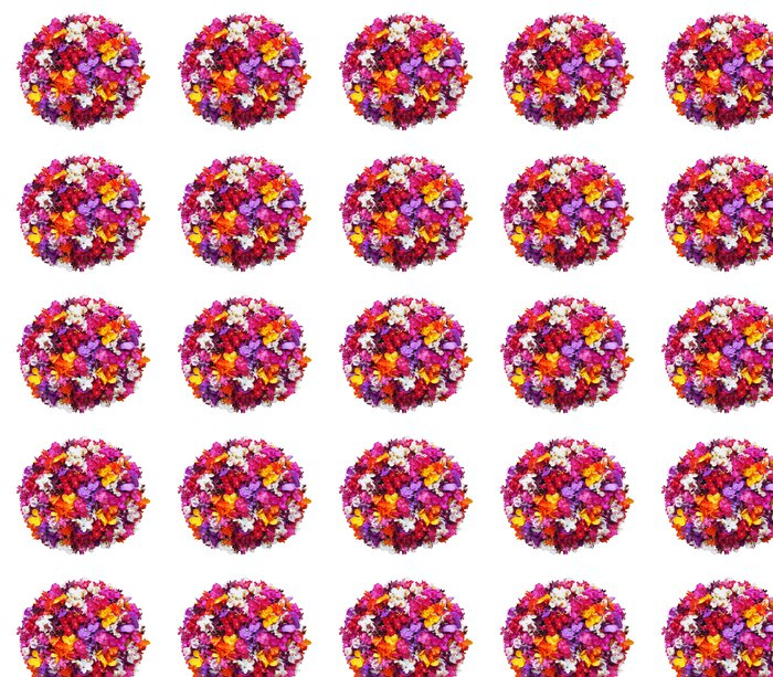 Vinylová Tapeta Orchidej květina míč na bílém pozadí - s ořezové cesty - Květiny