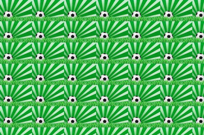 Vinylová Tapeta Fotbalový míč na zelené trávě pole - Prázdniny
