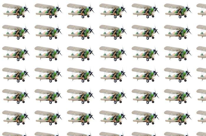 Vinylová Tapeta Staré bojové letadlo na bílém pozadí - Vzduch