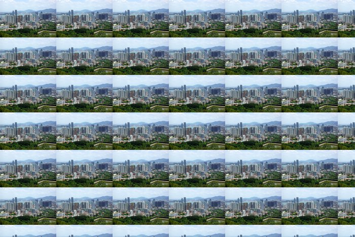 Vinylová Tapeta Scenérie Xiamen, moderní město v Číně - Asie