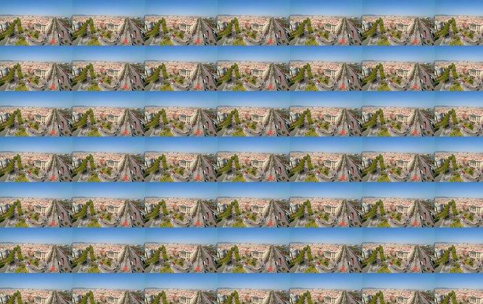 Vinil Duvar Kağıdı Barcelona üstten görünümü - Avrupa kentleri